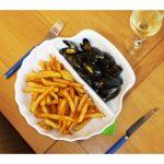 assiettes à moules frites garnies
