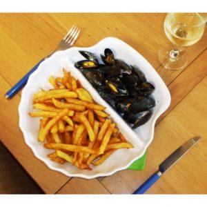 assiettes à moules frites garnie