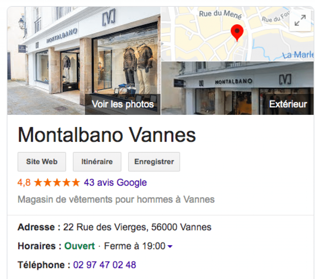 prêt-à-porter homme avis Google Montalbano